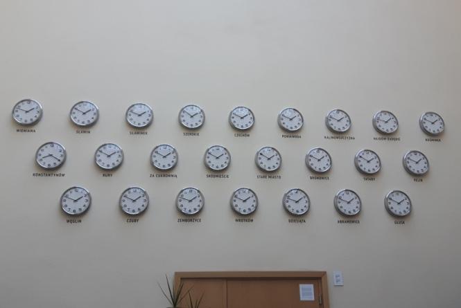 Zegary w Szklarni