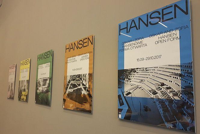 Hansenowie - plakat wystawy forma otwarta