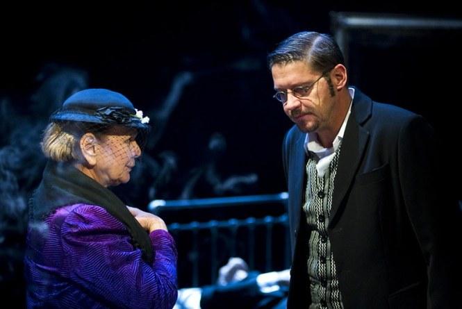 Wojciech Malajkat w spektaklu Zbrodnia z premedytacją