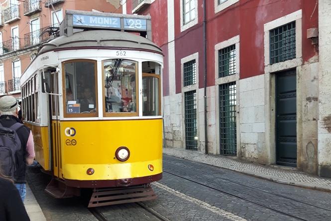 Żółty tramwaj