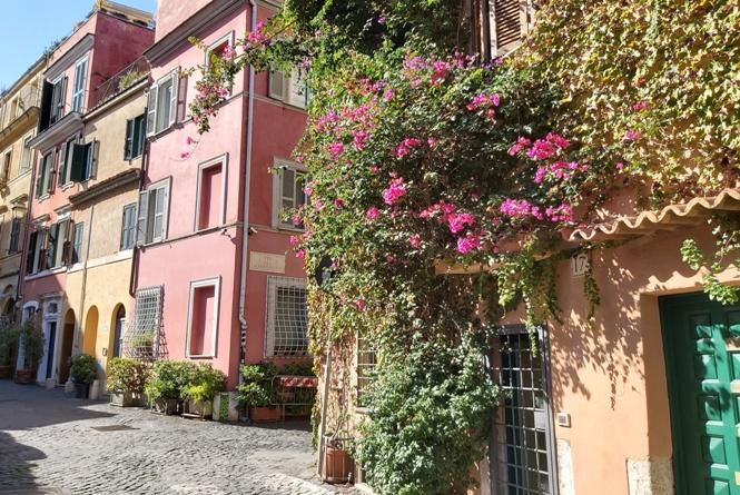 Ulice Zatybrza w Rzymie